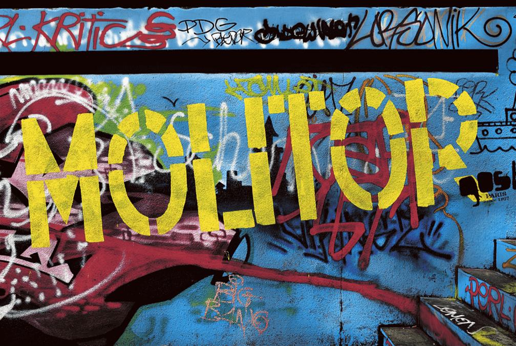 Graffiti dans la piscine Molitor, années 2000